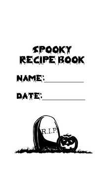 Spooky halloween recipe book