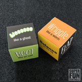 Spooky noise and action dice game