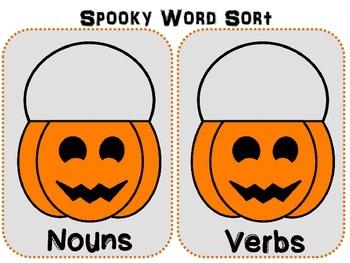 Spooky noun and verb sort