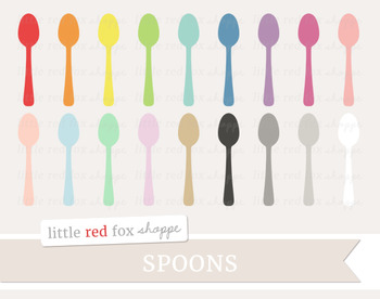 Spoon Clipart; Kitchen, Silverware, Utensil