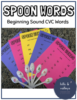 Spoon Words - Beginning Sound CVC Words