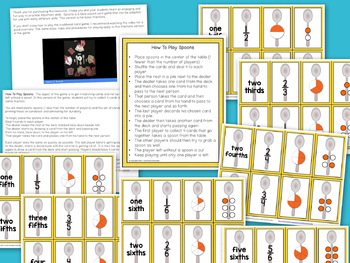 Fractions Game - Spoons