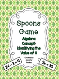 Spoons Game: Identifying the Value of X *Algebra Concept*