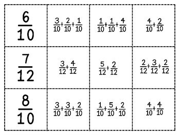 Spoons Game {Math} Decomposing Fractions [4NF6]