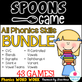 Spoons Game {Reading} All Phonics Skills BUNDLE [Phonics Word Work]