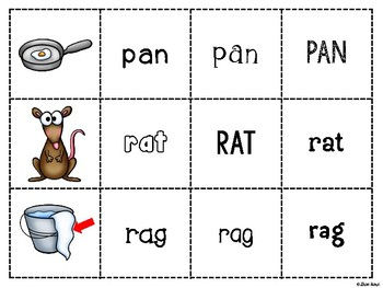 Spoons Game {Reading} CVC short vowel a [Phonics Word Work]