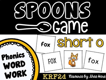 Spoons Game {Reading} CVC short vowel o [Phonics Word Work]