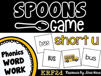 Spoons Game {Reading} CVC short vowel u [Phonics Word Work]