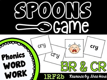 Spoons Game {Reading} Consonant Blends BR & CR [Phonics Word Work]