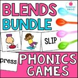 Spoons Game {Reading} Consonant Blends BUNDLE [Phonics Word Work]
