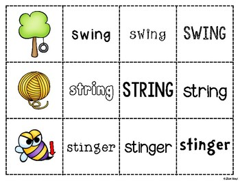 Spoons Game {Reading} Consonant Digraph NG  [Phonics Word Work]