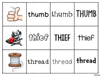 Spoons Game {Reading} Consonant Digraph TH  [Phonics Word Work]