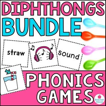 Spoons Game {Reading} Dipthongs & Variant Vowels BUNDLE [Phonics Word Work]