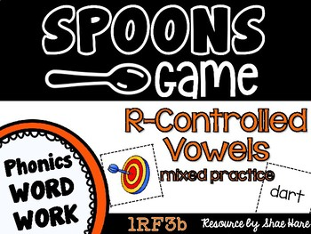 Spoons Game {Reading} R-Controlled Vowel MIXED PRACTICE  [