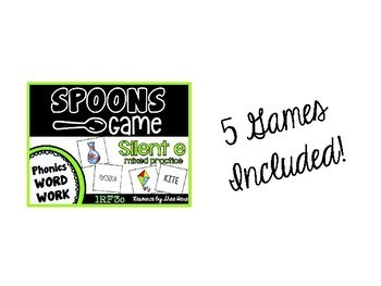 Spoons Game {Reading} Silent e BUNDLE [Phonics Word Work] Sneaky e