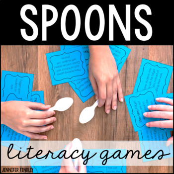 Spoons Games   Literacy Games ONLY Bundle   20 Literacy Games