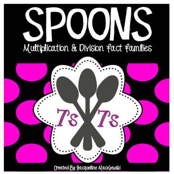 Spoons-Multiplication and Division Fact Family Game (7's)