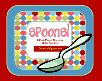Spoons - Order of Operations Game