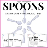 Music Education Face Cards and Spoons Party Game for Choir, Band, Orchestra!