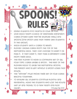 Spoons! Progressive Era Game