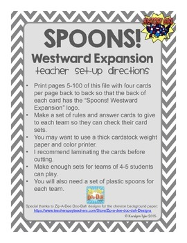 Spoons! Westward Expansion Game