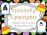 Spooooky Synonyms- Halloween Matching Game