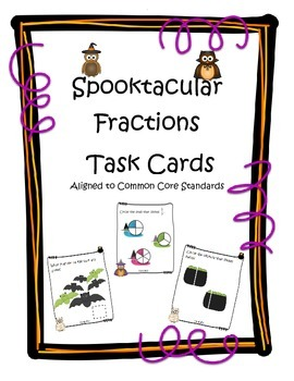Spootacular Fractions Task Cards