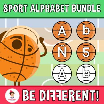 Sport Alphabet Clipart Bundle