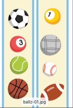 Sport Ball Bulletin Boarder