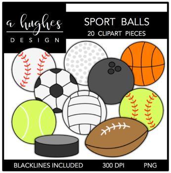 Sport Balls Clipart {A Hughes Design}