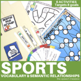 Sport: Building  Vocabulary and Semantic Relationships