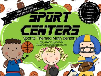 Sport Centers: Common Core Math Centers Pack