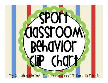 Sport Classroom Behavior Chart