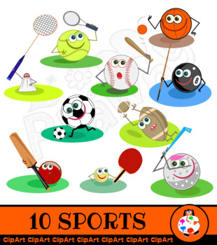 Sport Clip Art Cartoon Characters