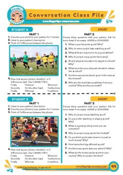 Sport - ESL Speaking Activity