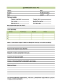 Sport Education Lesson Plan Template