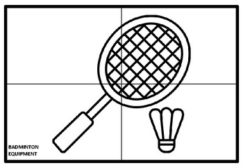 Sport Equipment Collaborative Art Project, Coloring Pages, Art Sub Plan