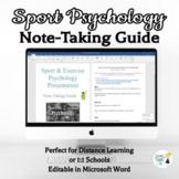 Sport & Exercise Psychology Note-Taking Guide - Online Dis