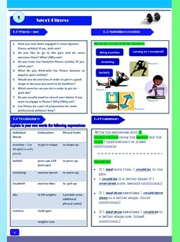 Sport-Fitness- Speaking Activities for Students