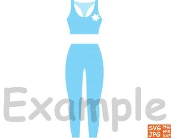 Sport Fitness gym Health Clip Art school Exercise yoga running trainer girl -66S