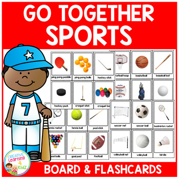 Sport Go Togethers Matching Board + Flashcards
