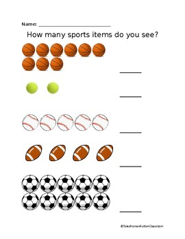 Sport Items Counting