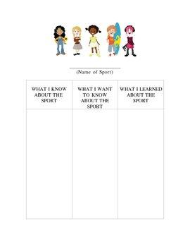 Sport KWL Chart