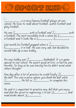 Sport Kid Madlibs