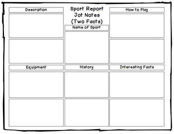 sports writing research report templates by teaching with a touch