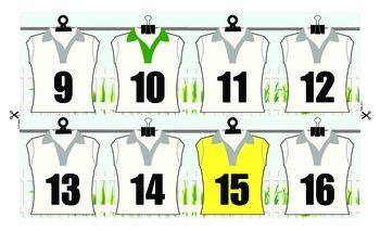 Number Line 1-200 Sport Shirt Theme
