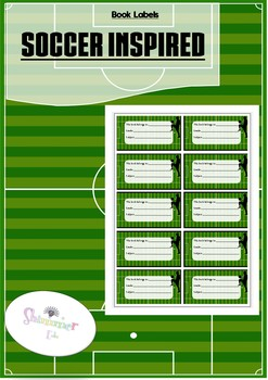Sport Soccer theme Book Name Labels Tags, back to school
