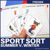 Sport Sort Freebie   Summer v. Winter