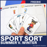 Sport Sort Summer v. Winter Categorization Activity