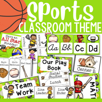 Sport Theme: Classroom Decor (MEGA PACK)